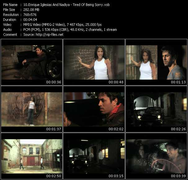 Enrique Iglesias And Nadiya - Tired Of Being Sorry