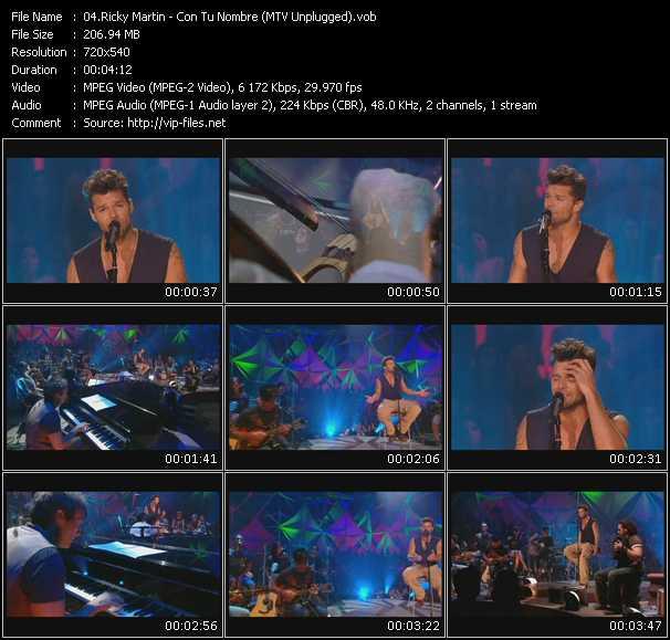 Ricky Martin - Con Tu Nombre (MTV Unplugged)