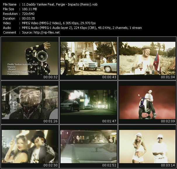 Daddy Yankee Feat. Fergie - Impacto (Remix)