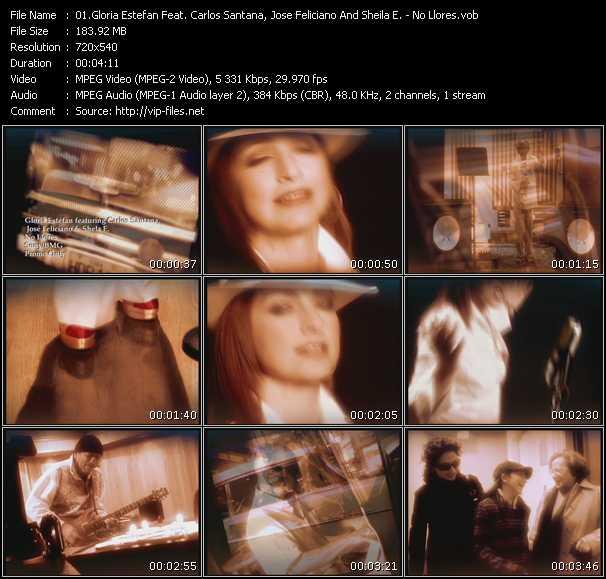 Gloria Estefan Feat. Carlos Santana, Jose Feliciano And Sheila E. - No Llores