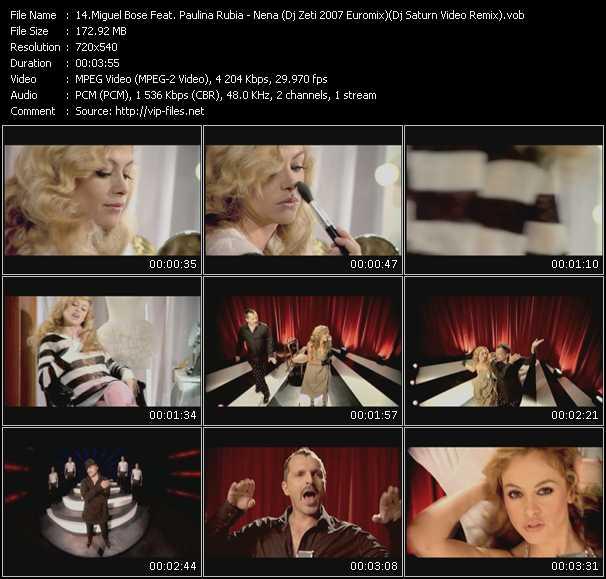 Miguel Bose Feat. Paulina Rubio - Nena (Dj Zeti 2007 Euromix) (Dj Saturn Video Remix)