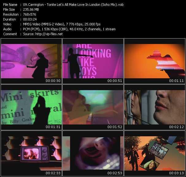 Carrington - Tonite Let's All Make Love In London (Soho Mix)