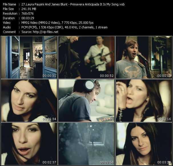 Laura Pausini And James Blunt - Primavera Anticipada It Is My Song