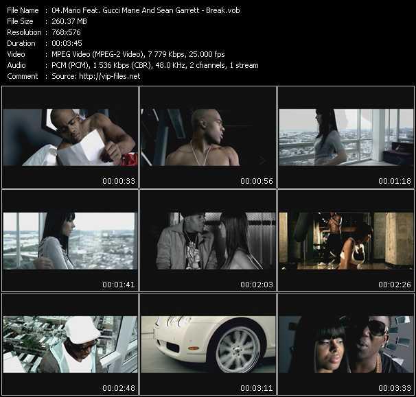 Mario Feat. Gucci Mane And Sean Garrett - Break