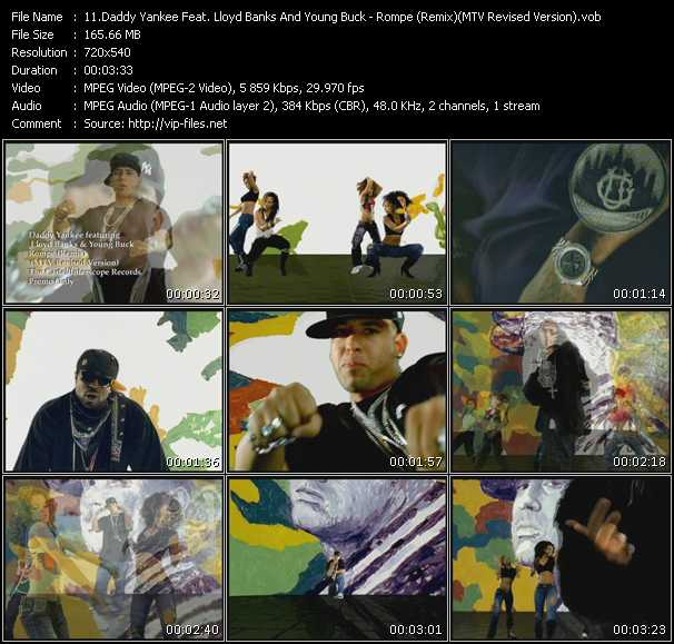 Daddy Yankee Feat. Lloyd Banks And Young Buck - Rompe (Remix) (MTV Revised Version)