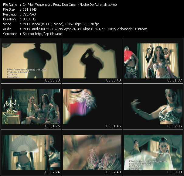 Pilar Montenegro Feat. Don Omar - Noche De Adrenalina