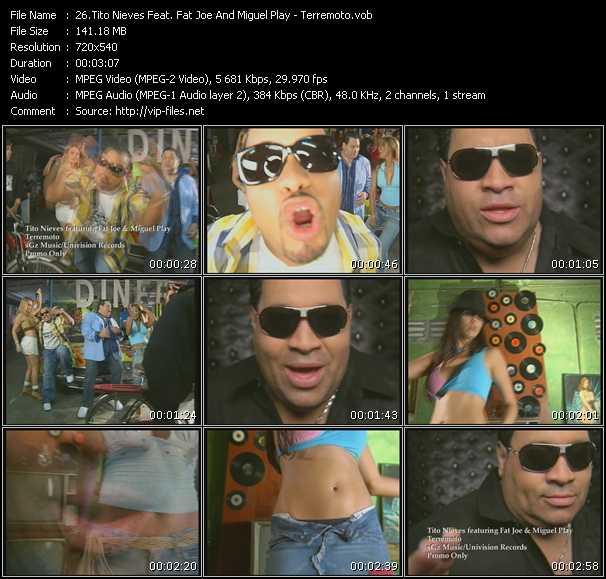 Tito Nieves Feat. Fat Joe And Miguel Play - Terremoto