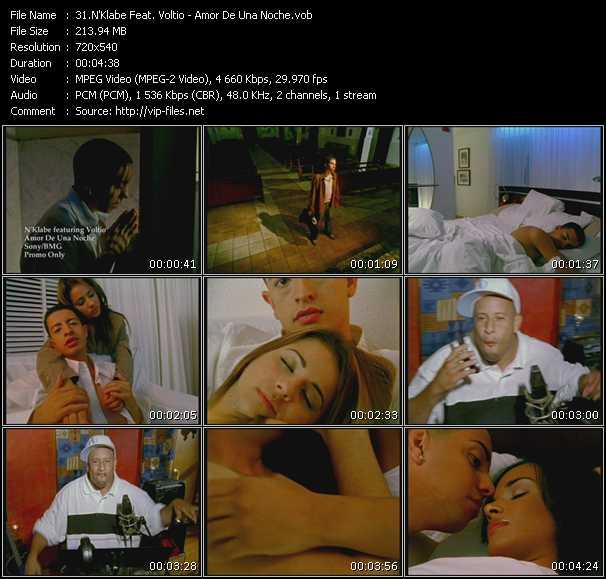 N'Klabe Feat. Voltio - Amor De Una Noche