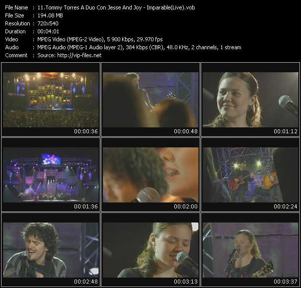 Tommy Torres A Duo Con Jesse And Joy - Imparable (Live)
