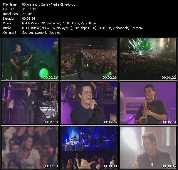Alejandro Sanz - Medley (Live)