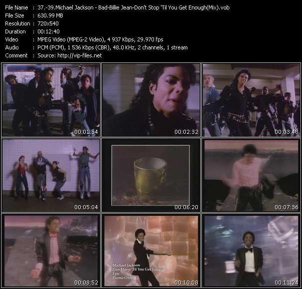 Michael Jackson - Bad-Billie Jean-Don't Stop 'Til You Get Enough (Mix)