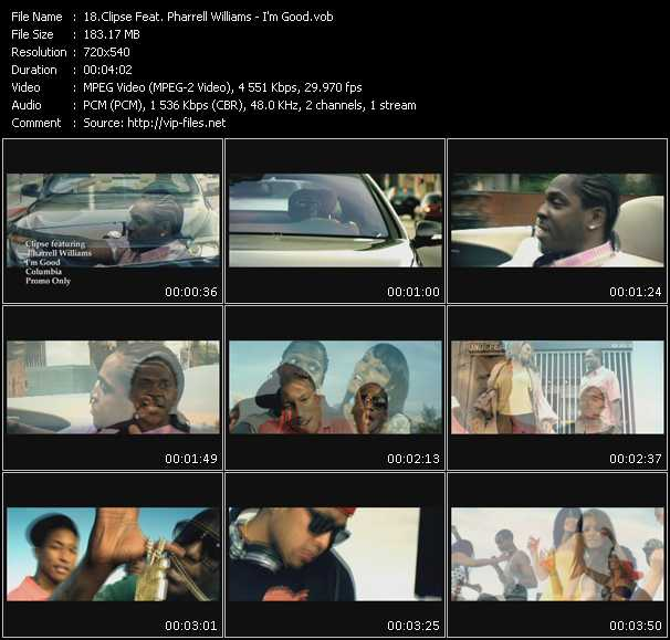 Clipse Feat. Pharrell Williams - I'm Good