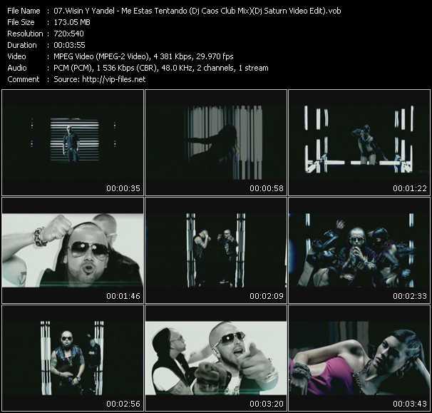 Wisin And Yandel - Me Estas Tentando (Dj Caos Club Mix) (Dj Saturn Video Edit)