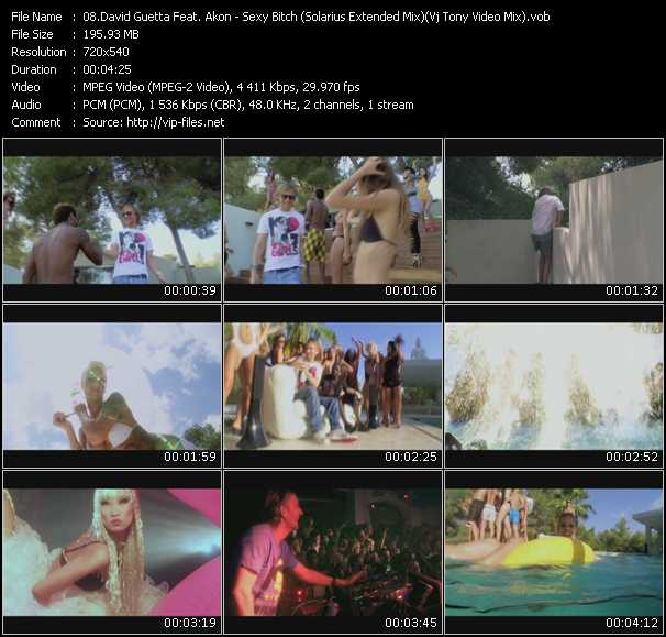 David Guetta Feat. Akon - Sexy Bitch (Solarius Extended Mix) (Vj Tony Video Mix)