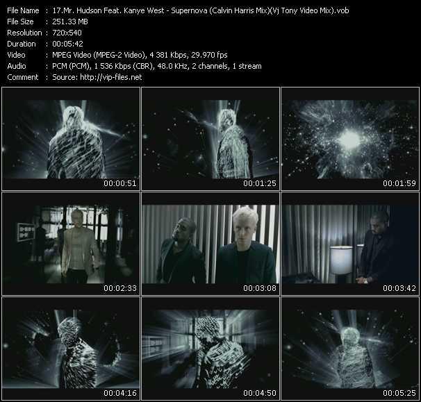 Mr. Hudson Feat. Kanye West - Supernova (Calvin Harris Mix) (Vj Tony Video Mix)