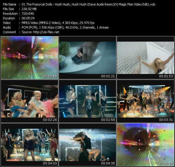 Pussycat Dolls - Hush Hush, Hush Hush (Dave Aude Remix) (Vj Magic Man Video Edit)