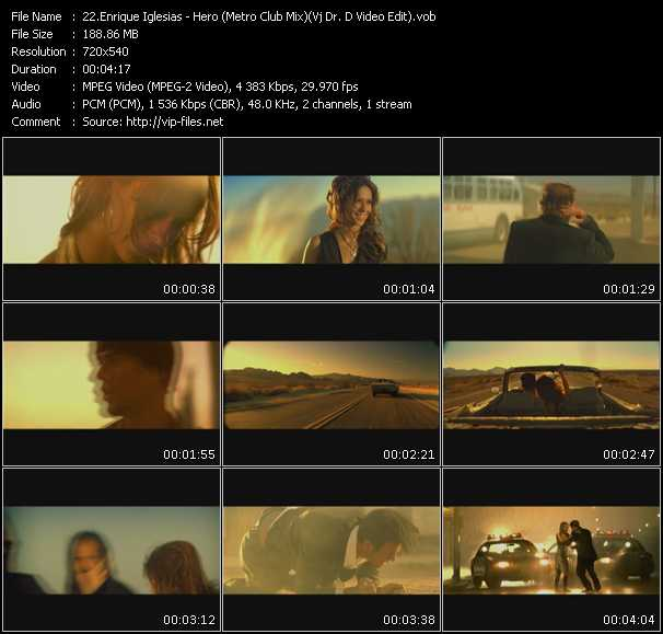 Enrique Iglesias - Hero (Metro Club Mix) (Vj Dr. D Video Edit)