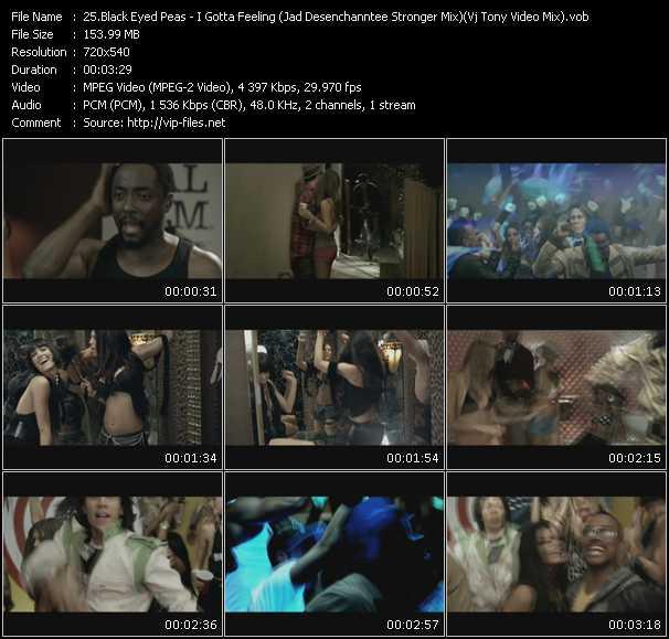 Black Eyed Peas - I Gotta Feeling (Jad Desenchanntee Stronger Mix) (Vj Tony Video Mix)