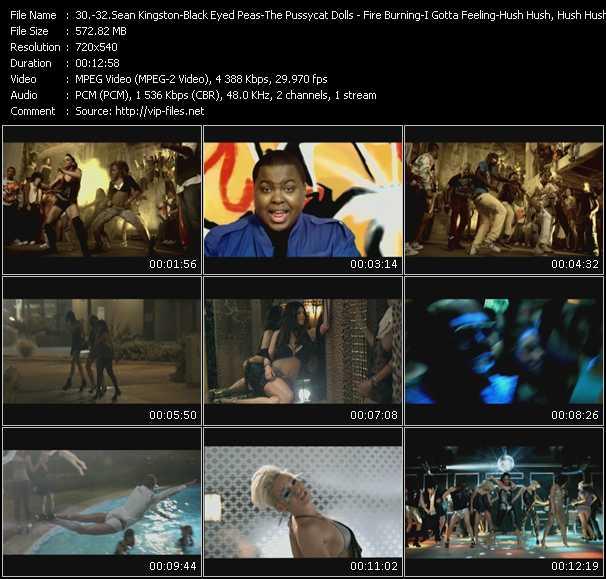 Sean Kingston - Black Eyed Peas - Pussycat Dolls - Fire Burning-I Gotta Feeling-Hush Hush, Hush Hush