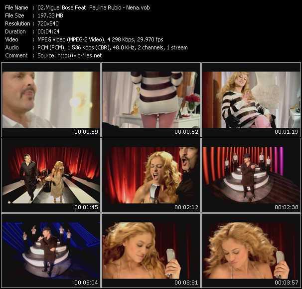 Miguel Bose Feat. Paulina Rubio video Nena
