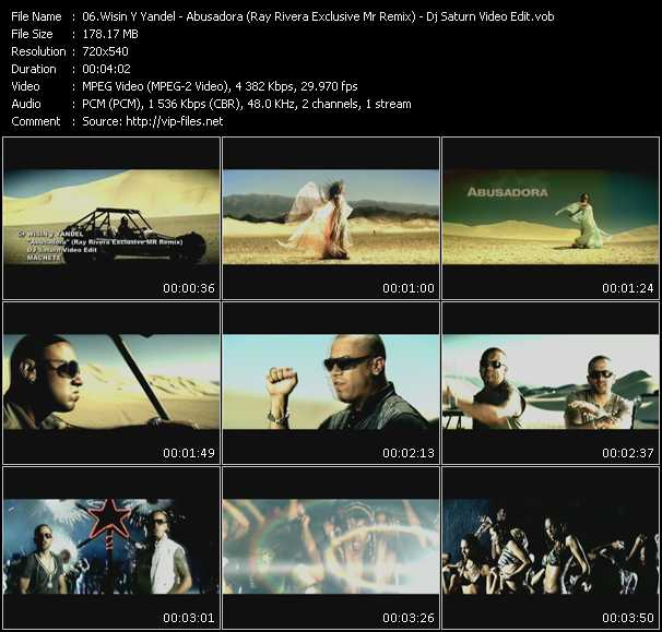 Wisin And Yandel - Abusadora (Ray Rivera Exclusive Mr Remix) (Dj Saturn Video Edit)