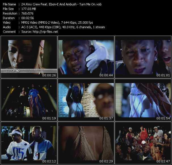 Rmxcrw (Rmx Crew) Feat. Ebon-E And Ambush - Turn Me On