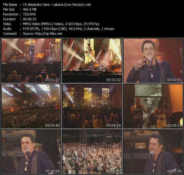 Alejandro Sanz - Labana (Live Version)