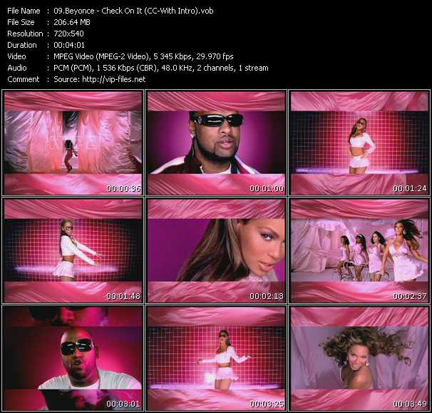 Beyonce Feat. Slim Thug - Check On It (CC-With Intro)