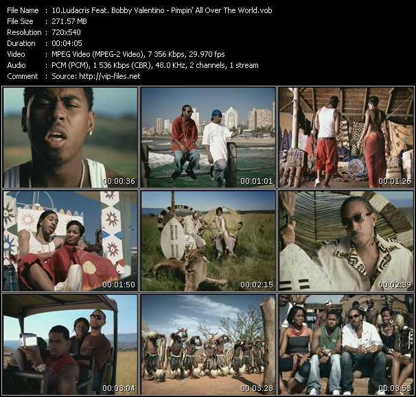 Ludacris Feat. Bobby Valentino (Bobby V) - Pimpin' All Over The World