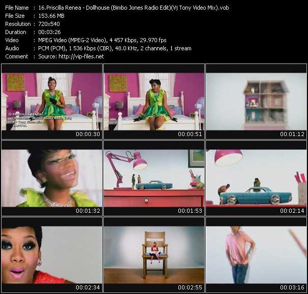 Priscilla Renea - Dollhouse (Bimbo Jones Radio Edit) (Vj Tony Video Mix)