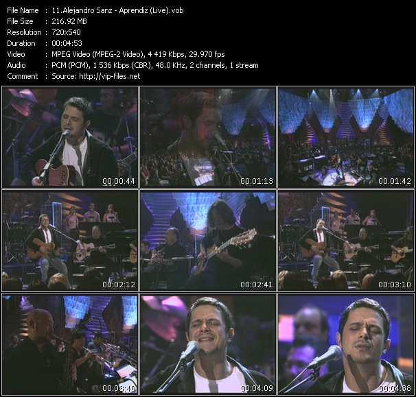 Alejandro Sanz - Aprendiz (Live)