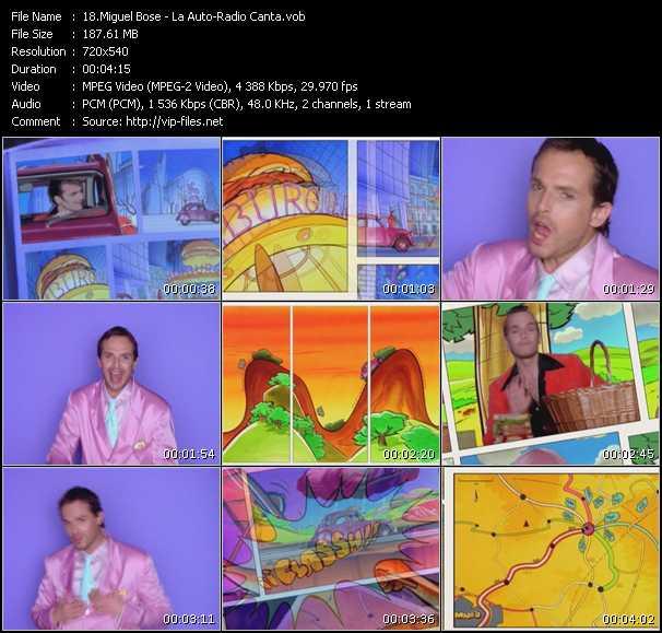 Miguel Bose video La Auto-Radio Canta