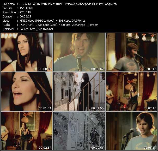 Laura Pausini With James Blunt - Primavera Anticipada (It Is My Song)