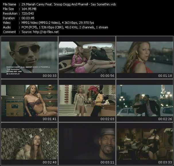 Mariah Carey Feat. Snoop Dogg And Pharrell Williams - Say Somethin'