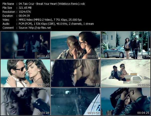 Taio Cruz - Break Your Heart (Wideboys Remix)