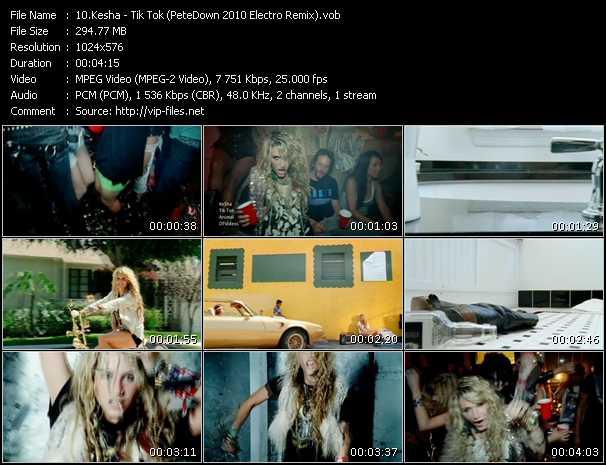 Kesha - Tik Tok (PeteDown 2010 Electro Remix)