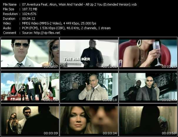 Aventura Feat. Akon, Wisin And Yandel - All Up 2 You (Extended Version)