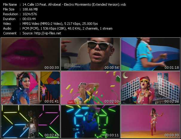 Calle 13 Feat. Afrobeat - Electro Movimiento (Extended Version)
