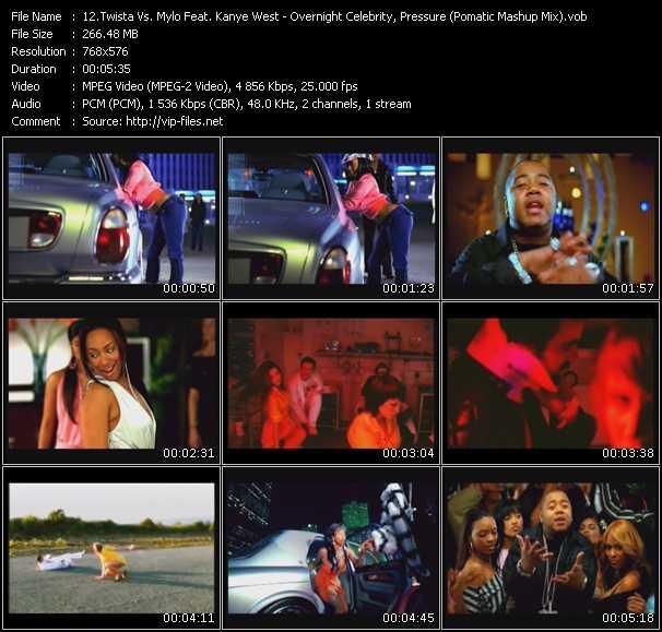 Twista Vs. Mylo Feat. Kanye West - Overnight Celebrity, Pressure (Pomatic Mashup Mix)