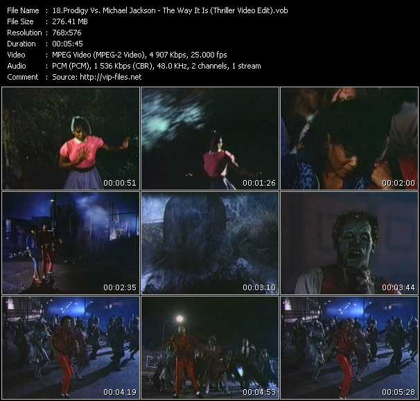 Prodigy Vs. Michael Jackson - The Way It Is (Thriller Video Edit)