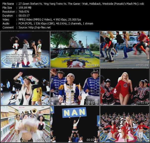 Gwen Stefani Vs. Ying Yang Twins Vs. The Game - Wait, Hollaback, Westside (Pomatic's Mash Mix)