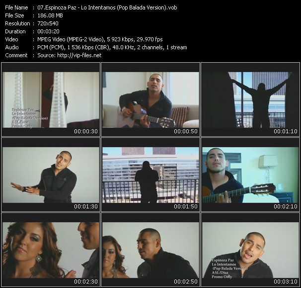 Espinoza Paz - Lo Intentamos (Pop Balada Version)
