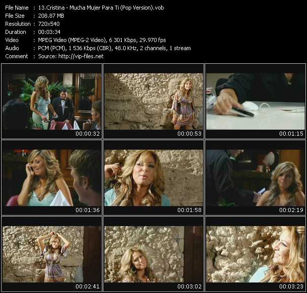 Cristina - Mucha Mujer Para Ti (Pop Version)