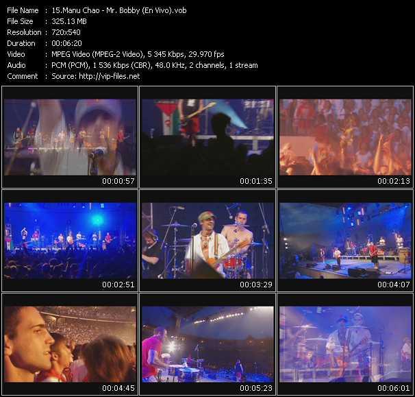 Manu Chao - Mr. Bobby (En Vivo)