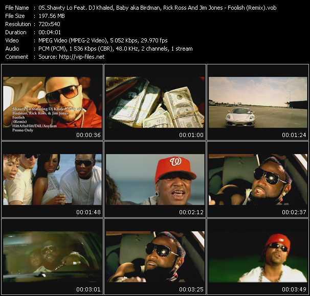 Shawty Lo Feat. DJ Khaled, Baby Aka Birdman, Rick Ross And Jim Jones - Foolish (Remix)