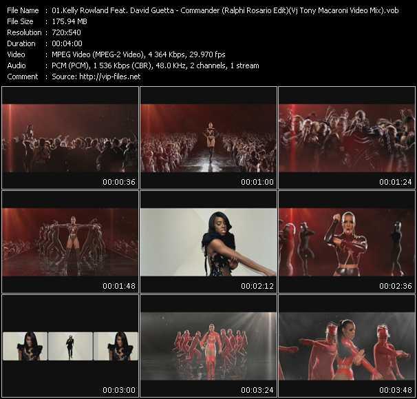 Kelly Rowland Feat. David Guetta - Commander (Ralphi Rosario Edit) (Vj Tony Macaroni Video Mix)