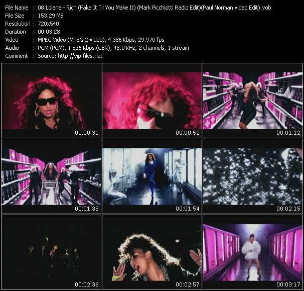 Lolene - Rich (Fake It Til You Make It) (Mark Picchiotti Radio Edit) (Paul Norman Video Edit)