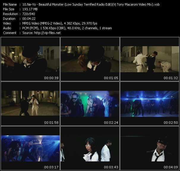 Ne-Yo - Beautiful Monster (Low Sunday Terrified Radio Edit) (Vj Tony Macaroni Video Mix)