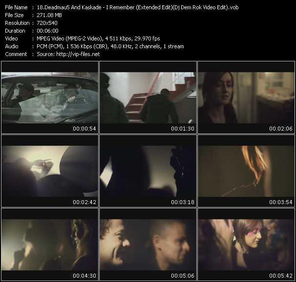 Deadmau5 And Kaskade - I Remember (Extended Edit) (Dj Dem Rok Video Edit)