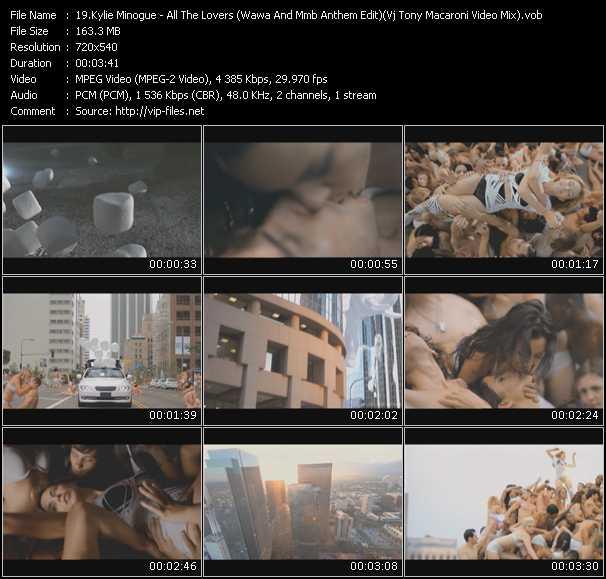 Kylie Minogue - All The Lovers (Wawa And Mmb Anthem Edit) (Vj Tony Macaroni Video Mix)